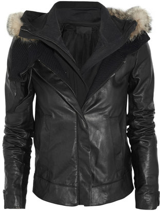 A.L.C. Morris hooded leather jacket