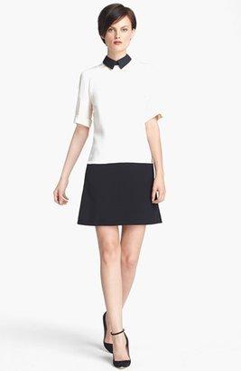 Victoria Beckham Victoria, Contrast Collar Tunic Dress