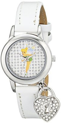 Disney Women's TK1009 Tinkerbell White Patent Strap with Charm Watch $29.99 thestylecure.com