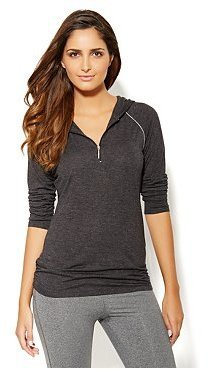 New York & Co. Love, NY&C Collection - Contrast Trim Hooded Top
