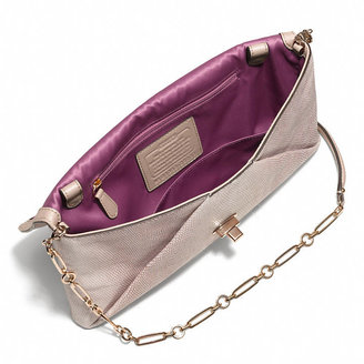 Coach Madison Clutch In Embossed Lizard Leather