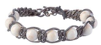 Emanuele Bicocchi Beads and chain bracelet
