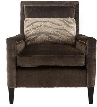 "Old Hickory Tannery Paulina"" Velvet Chair"