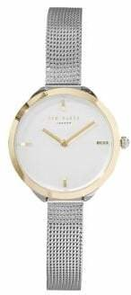 Ted Baker Two-Tone Stainless Steel Mesh Bracelet Watch