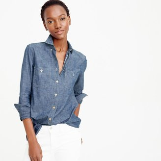 Selvedge chambray shirt $98 thestylecure.com