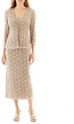 R & M Richards R&M Collection 3/4-Sleeve Sequin Lace Jacket Dress $120 thestylecure.com