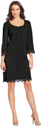 Alfani Three-Quarter-Sleeve Lace Sheath Dress