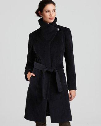 Calvin Klein Premium Funnel Neck Belted Coat