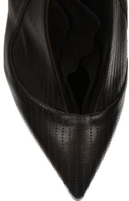 Fendi Perforated leather and suede boots