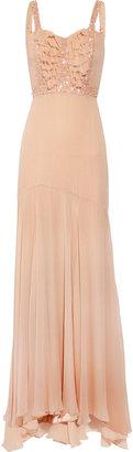 Rachel Gilbert Hannah silk-chiffon gown