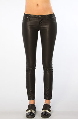 Blank NYC The Vegan Leather Super Skinny Pant in Black Beans