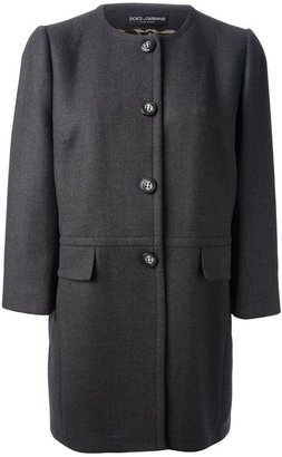 Dolce & Gabbana collarless coat