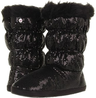 Roxy Candy Cane Boot (Black Sequins) - Footwear