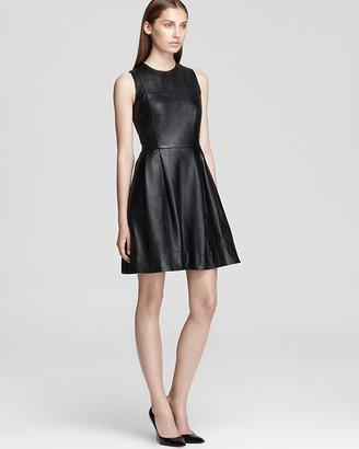 Shoshanna Leather Dress - Belle Sleeveless
