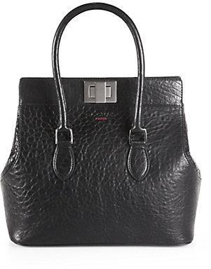 Rochas Borsa Leather Top-Handle Bag