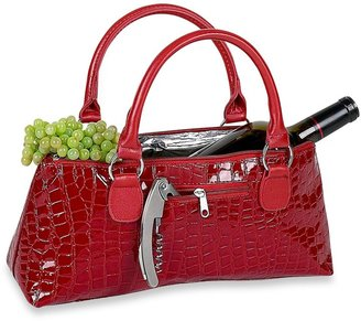 Insulated Wine Clutch in Red Croc $19.99 thestylecure.com