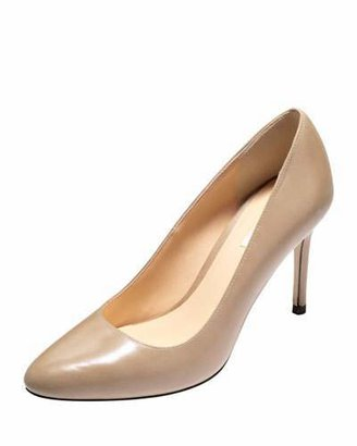 Cole Haan Bethany Almond-Toe Leather Pump,Maple Sugar $248 thestylecure.com