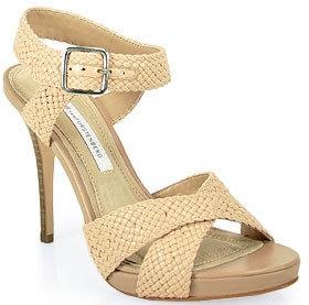 Diane von Furstenberg Vivi -Sandal in Nude Leather