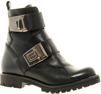 Asos WARRIOR Leather Biker Boots