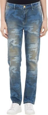 Camo Chip Foster Slouchy-Skinny Jeans