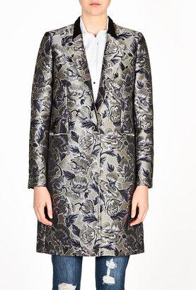 Paul Smith Black Silver Jaquard Coat