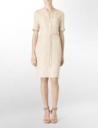 Calvin Klein Short Sleeve Snake Print Dress