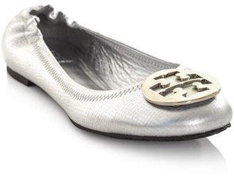Tory Burch Reva metallic ballet shoes