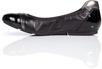 Hogan Leather/Patent Flats