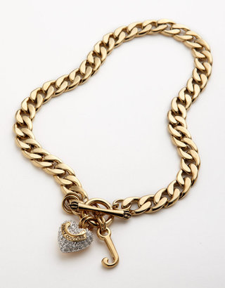 Juicy Couture Pavé Chain Link Starter Necklace