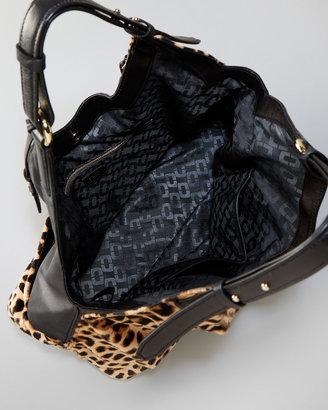 Diane von Furstenberg Leopard Calf Hair/Leather Wrap Bag