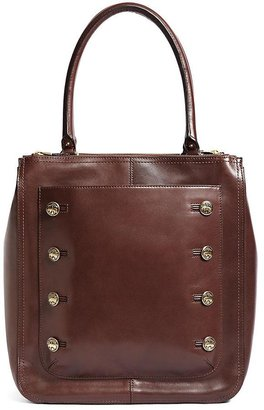 Brooks Brothers Calfskin Double-Zip Tote
