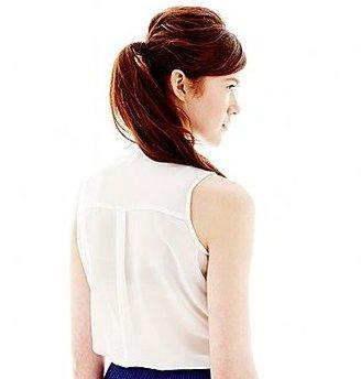L'amour Nanette Lepore Button-Front Scallop Shirt