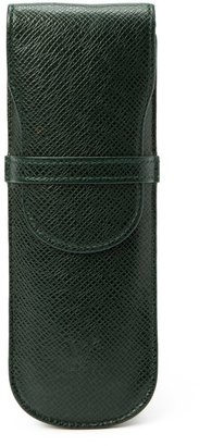 Louis Vuitton Pre-Owned: dark green taiga leather pen case