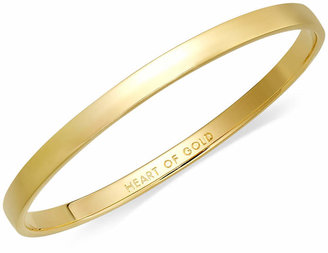 Kate Spade Bracelet, 12k Gold-Plated Heart of Gold Idiom Bangle Bracelet
