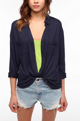 Urban Outfitters Staring At Stars Button-Down Knit Shirt