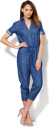 New York & Co. Utility Chambray Jumpsuit