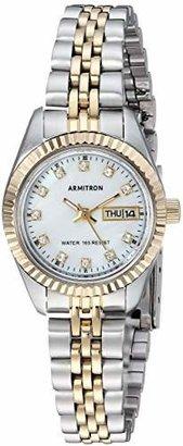 Swarovski Armitron Women's 75/2475MOP Crystal Accented Two-Tone Bracelet Watch