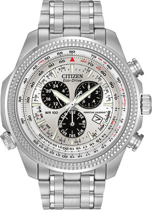 Citizen Eco-Drive Mens Alarm Chronograph Watch BL5400-52A