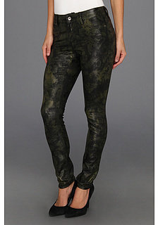 Vince Camuto TWO by Tonal Floral Straight Leg Jean in Dark Leaf