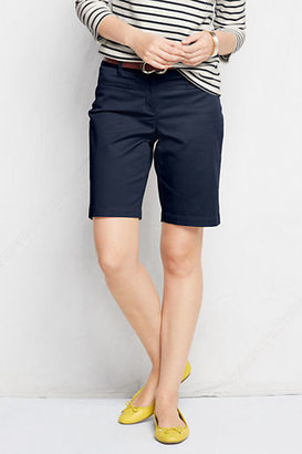 """Lands' End """"Women's Fit 2 10"""""""" Stretch Chino Bermuda Shorts"""