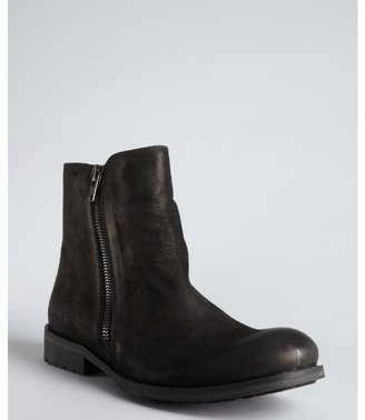 Kenneth Cole New York black leather 'An-Arc-Hy' dual side zips boots