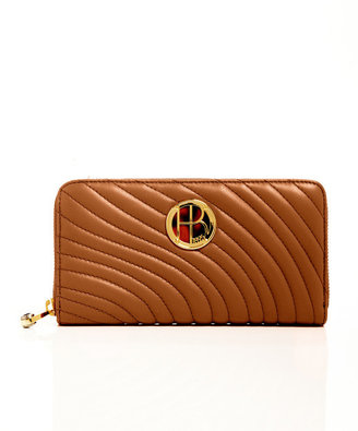 Henri Bendel No. 7 Quilted Logo Continental Zip Wallet