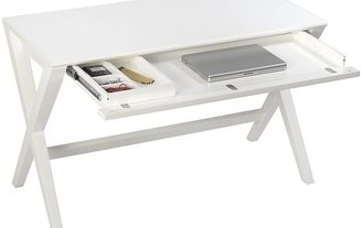 "Crate & Barrel Spotlight White 48"" Writing Desk"