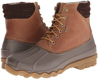 Sperry Avenue Duck Boot (Black/Amaretto) Men's Lace-up Boots