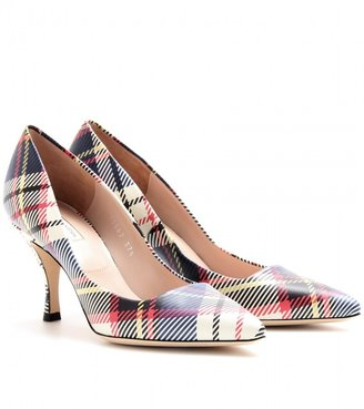 Dries Van Noten PLAID LEATHER PUMPS