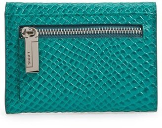 Lodis 'Mallory' Snake Embossed French Wallet