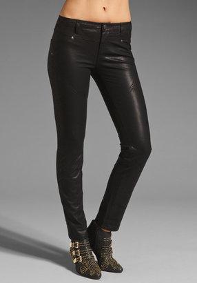 Free People Vegan Leather Seamed Skinny Pant