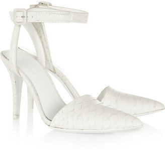 Alexander Wang Lovisa python-effect leather pumps