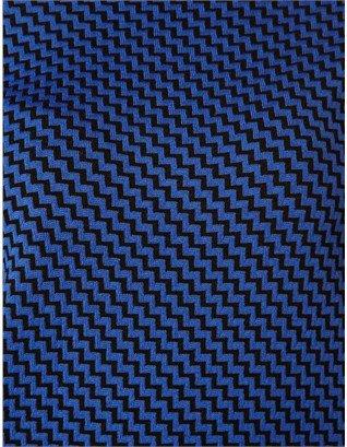 Pringle Blue Jacquard Turtleneck