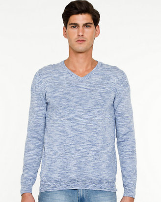 Le Château Slub Cotton V-Neck Sweater